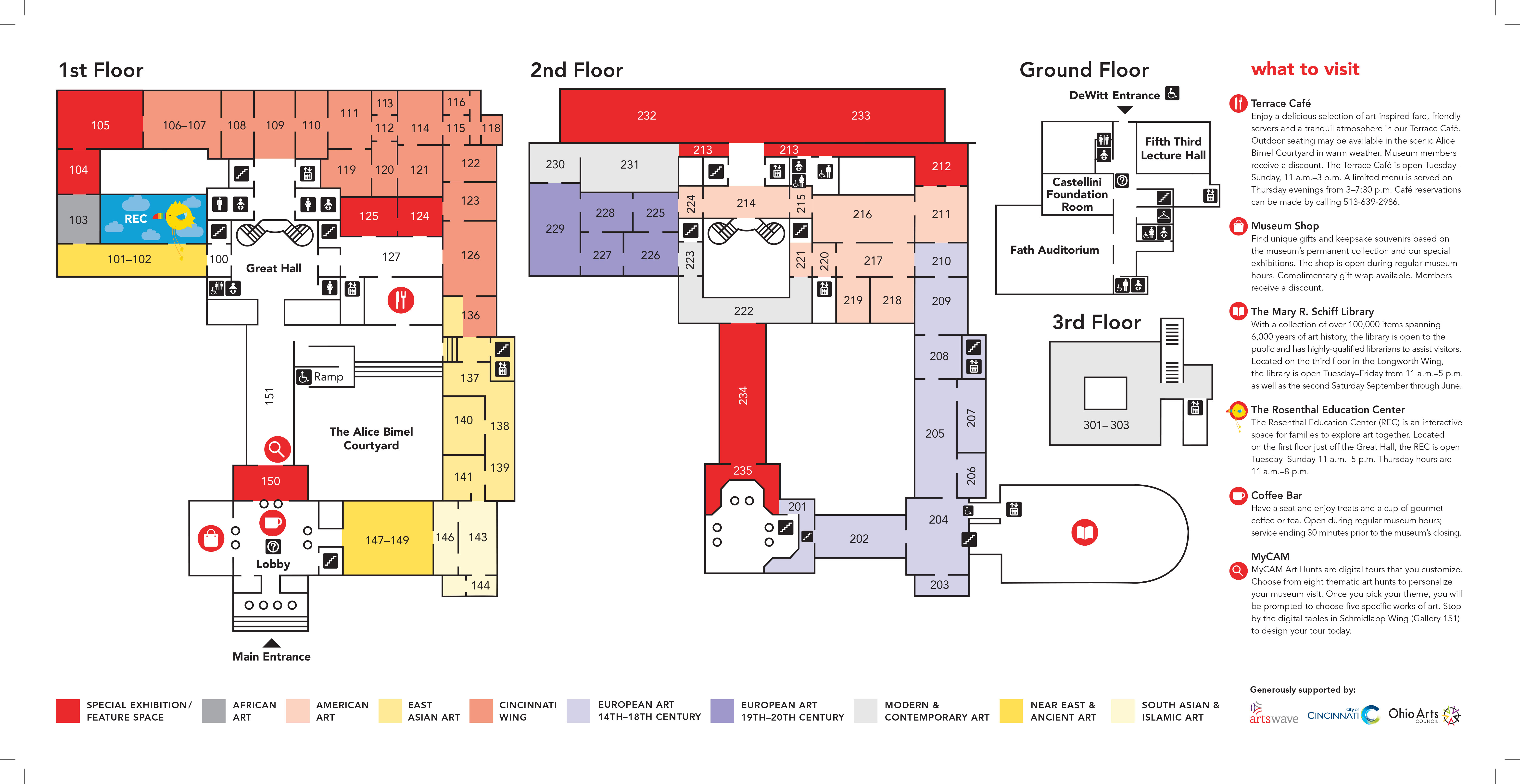 Gallery Map & Guides - Cincinnati Art Museum